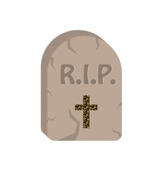 Gravestone cartoon icon vector image