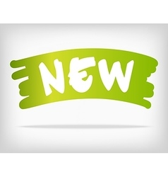 Green brush style stain with new product vector image vector image