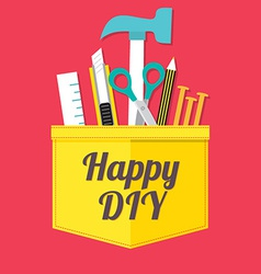 Happy DIY vector image