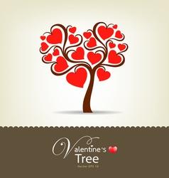 Happy valentine day tree vector