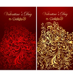 holiday banners with gold patterns vector image vector image
