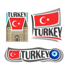 logo for turkey vector image vector image