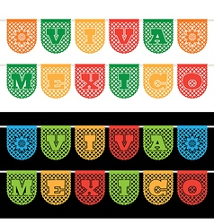 Mexican bunting banners vector