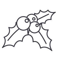 mistletoeornamentchristmas line icon vector image vector image