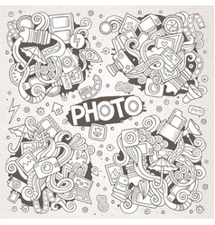 Photo hand drawn sketchy doodle designs vector