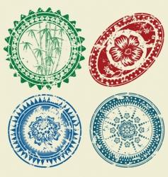 Postcard stamp set vector