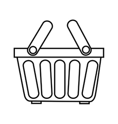 shopping basket object icon vector image