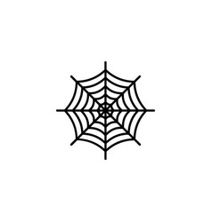 the spiderweb icon vector image