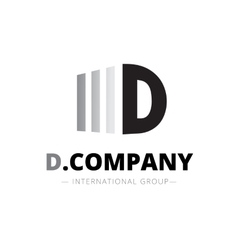 trendy isometric D letter logo vector image vector image