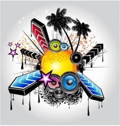 tropical disco vector image vector image