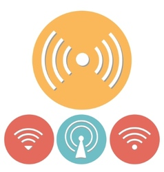 Wi-fi icons set of flat design vector