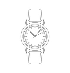 Wristwatch sketch vector
