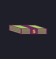 Bundle of Dollars computer symbol vector image