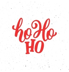 Ho-ho-ho christmas greeting card vector