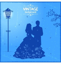 Vintage lovers vector
