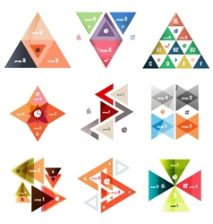 Set of abstract triangle modern templates vector
