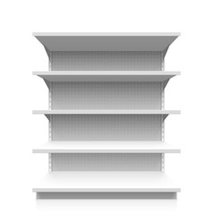 Empty supermarket shelf vector image
