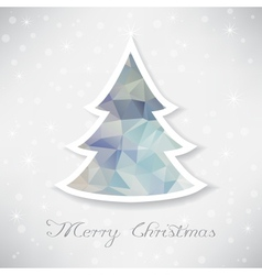Silver christmas tree with triangle filling vector