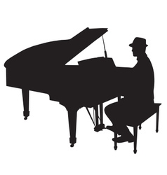 Piano man vector