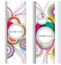 abstract modern banner set vector design vector image