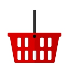 Shopping basket flat icon vector