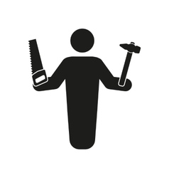 The carpenter avatar icon builder and handyman vector