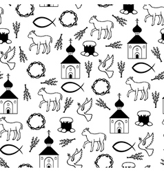 Easter orthodox pattern vector