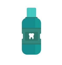 Fresh breath bottle of mouthwash vector