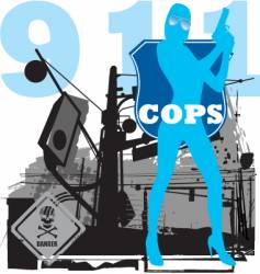 cops vector image