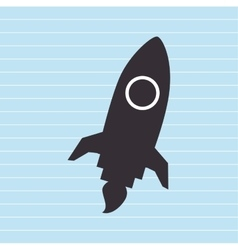 Rocket launch design vector