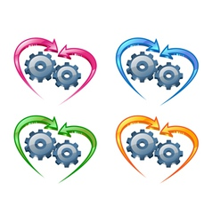 Gears and arrows vector
