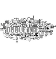 Ain t no sucker like jim duquette text word cloud vector