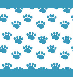animal tracks seamless pattern dog paws traces vector image vector image