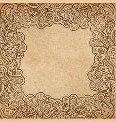 background floral frame vector image vector image