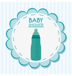 Bottle of baby shower card design vector image vector image