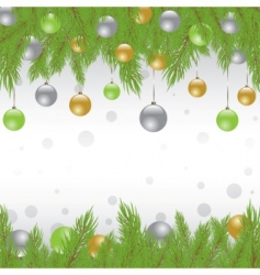 Christmas fur tree vector illustration vector image vector image