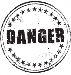danger stamp vector image