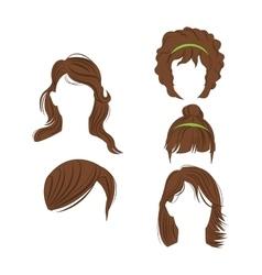 Female hair styles design vector