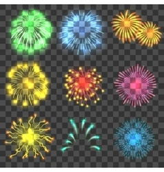 Fireworks concepts set realistic style vector image vector image