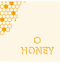 Geometric pattern with honeycomb vector
