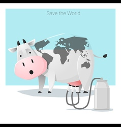 Global ecology concept Save the world before its vector image