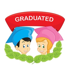 Graduated students vector