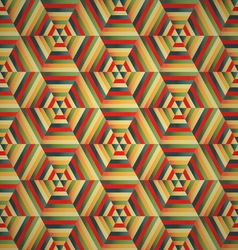 Hexagon seamless pattern colorful background vector image vector image