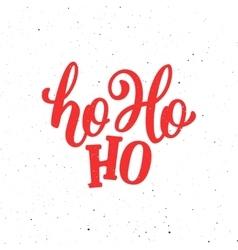 Ho-Ho-Ho Christmas greeting card vector image