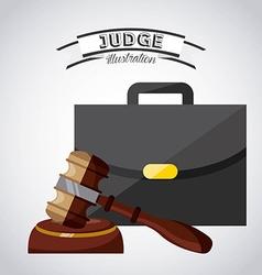 judge concept vector image vector image