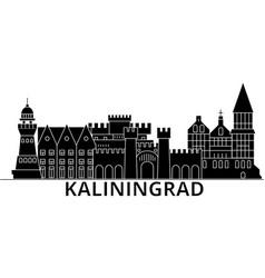Kaliningrad architecture city skyline vector