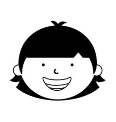 Little ethnic boy character vector