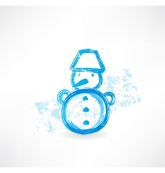 Little snowman grunge icon vector image vector image
