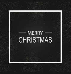 merry christmas holiday shiny vector image