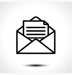 open envelope for letter vector image vector image